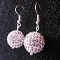 B.o. boules strass blanches