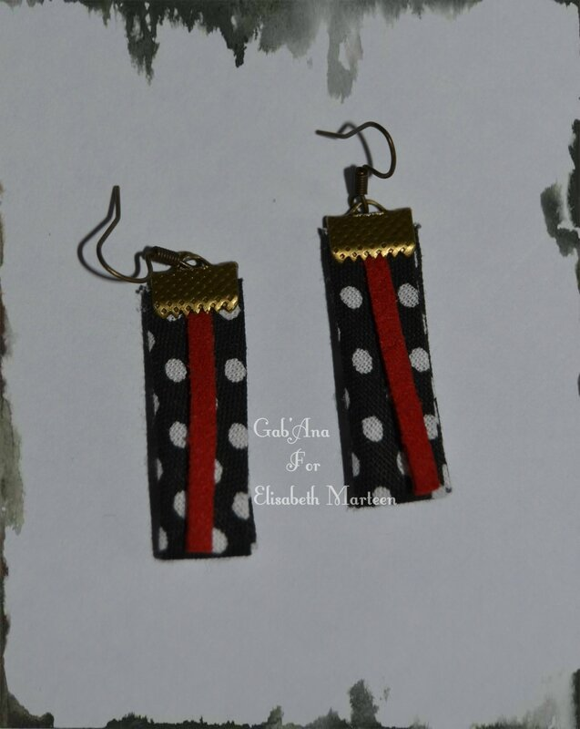 Boucles cuir noir et rouge