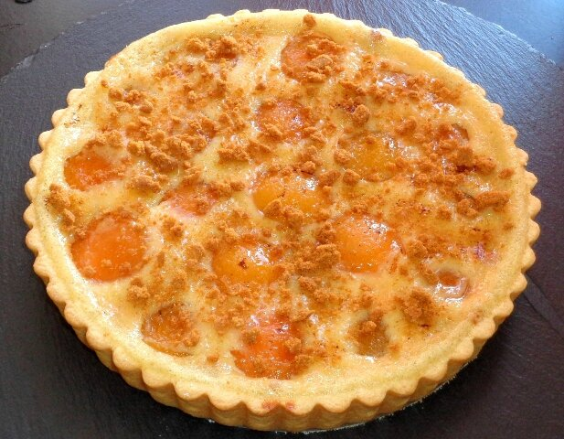 Tarte normande abricot speculoos