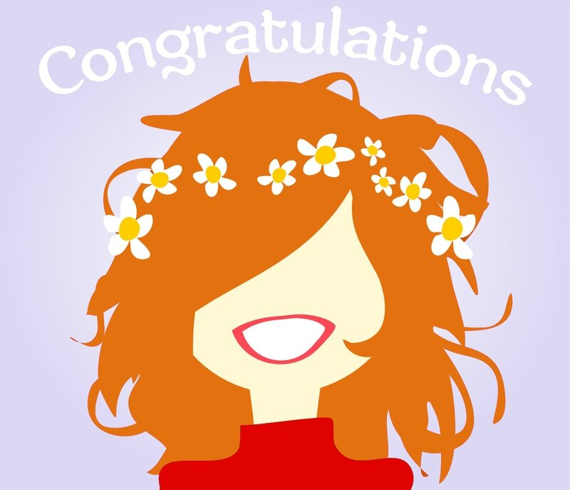 Congratulations ginger girl