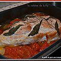Rouelle de porc aux tomates et à la sauge