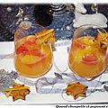 Soupe d'agrumes au champagne