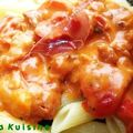 Pennes, sauce crémeuse tomatée aux poivrons grillés et serrano