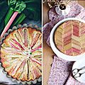 10 tartes graphiques à la rhubarbe