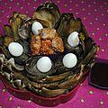 Bento articho' et ses temuras de coeur avec touche de fruits rouges...