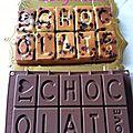 Silikomart gateau a l'abricot et pepites de chocolat en forme de tablette.