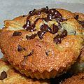Muffins abricot et pépites de chocolat