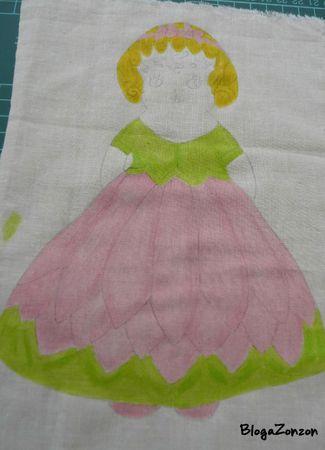 rag doll dessin et peinture sur tissus