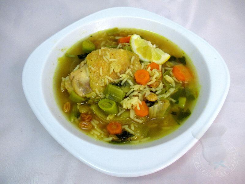 Soupe marocaine au poulet