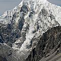 avalanche sur le Langtang Lirung