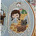 Broderie: story time sampler - avril