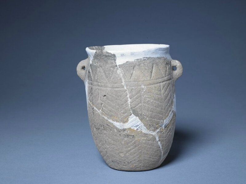 Deep belly vase, Neolithic, Cishan culture (6500–5500 BC), high 14