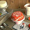 Flan soyeux coco & fraises...ig bas & vegan