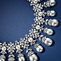 Elegant cultured pearl and diamond necklace, van cleef & arpels