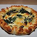 Ancienne recette : tarte aux épinards et saint marcellin
