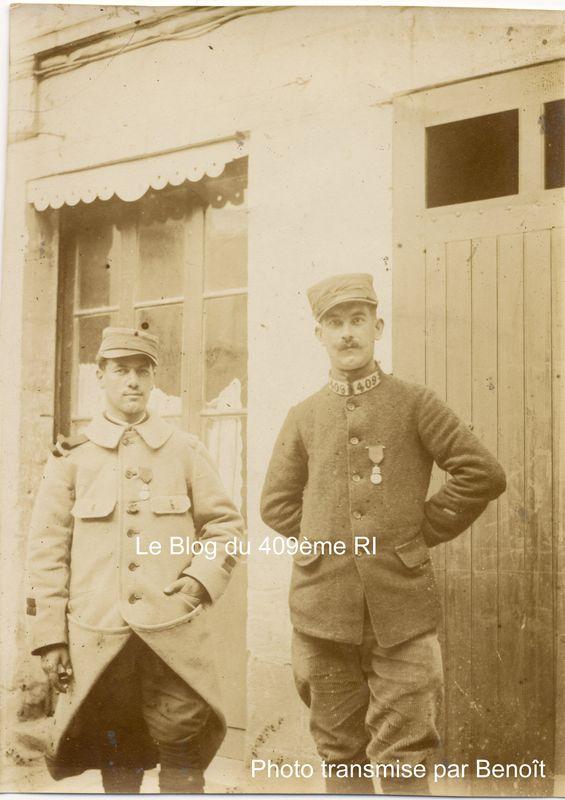 Deux soldats du 409ème RI