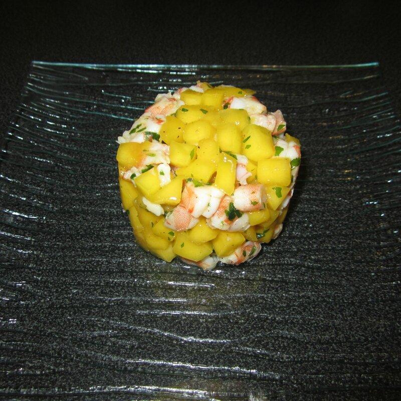 tartare mangue crevette