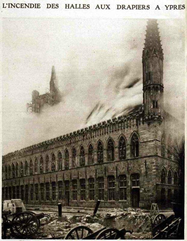 Halles Ypres 1914