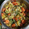 Casserole de fin d'hiver aux carottes, pommes de terre et navets à la caroube et cumin