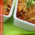 Crumble courgette-tomate