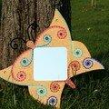 miroir mosaique papillon - vendu