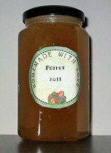 Confiture poire 2011