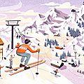 sport d'hiver ski