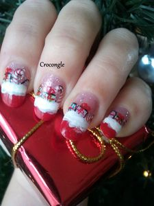 Nail art cadeaux de noël Crocongle
