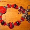 Bracelets en perle de verre filé
