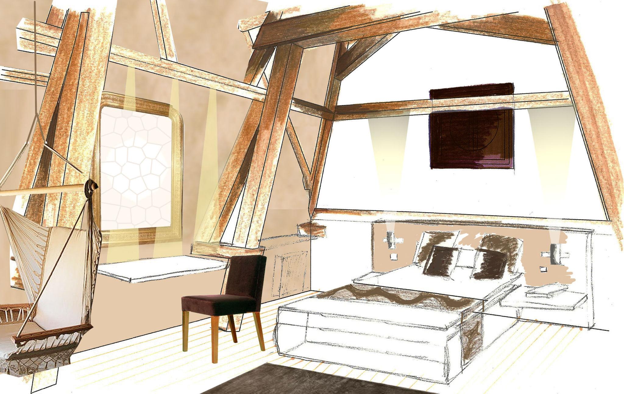 Architecte D Intérieur Paris 8 8 - photo de manoir (60) - amélie pellé,architecte d