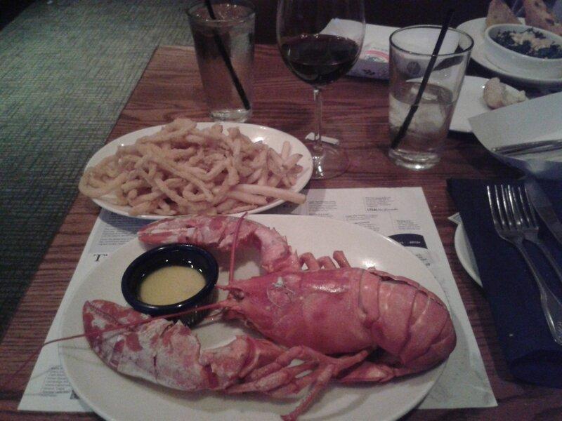Le homard AVANT
