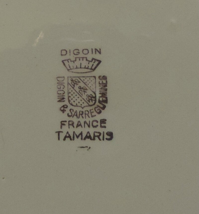Plat plat rond 27,5 cm Tamaris fond