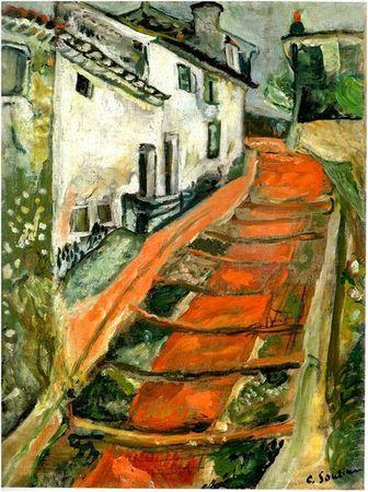 soutine chaïm escalier rouge