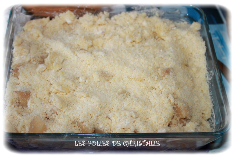 Crumble pommes bananes coings 5
