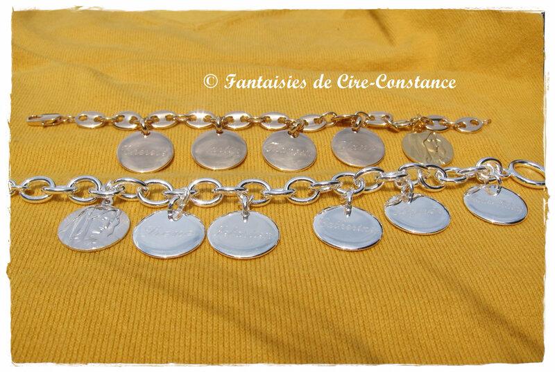 Bracelets grains café et mailles-1