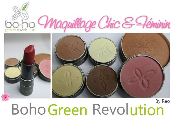 tutoriel maquillage bio avec Boho green revolution