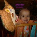 Violette 15 mois et son hibou