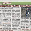 De la ferme à la chapelle au fil de l'eau .... article paru dans haute provence info