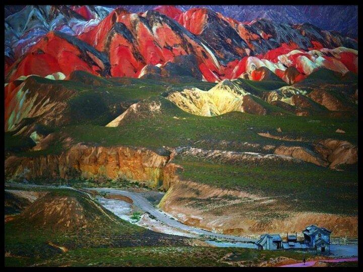 chine montagnes arc en ciel 06