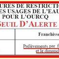 Respect de l'arrêté du préfet de seine & marne concernant les restrictions des usages de l'eau pour l'ourcq ?