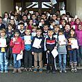 Saint gence : remise des permis piéton à l'école élémentaire