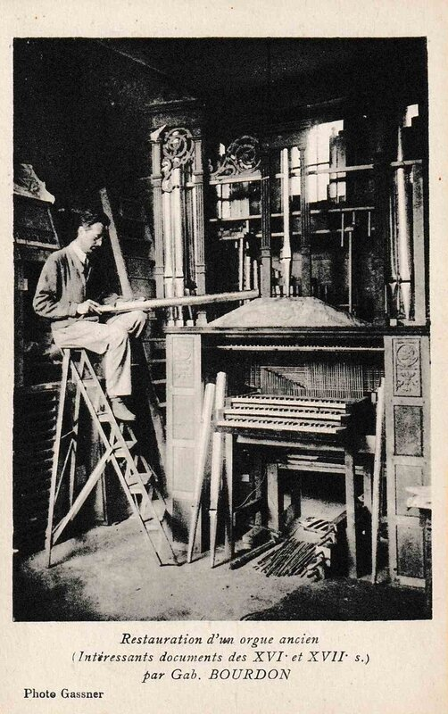 carte postale ancienne orgue collection j-m s
