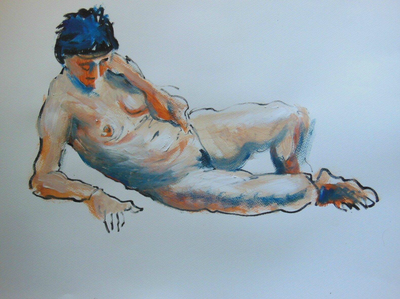dessin peinture tableaux de nus contemporain (3)