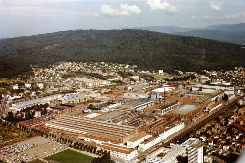 Belfort Photo Usine Alsthom 1977 JM R