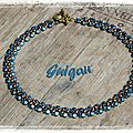 Collier Autumn Leaves bleu_or