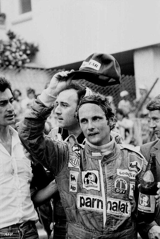1976-Monaco-Niki Lauda podium
