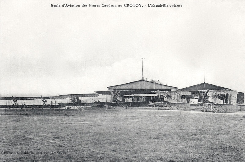Le Crotoy, école d'aviation, escadrille volante