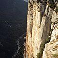Gorges du Verdon, belvédère de l'Escalès, falaise (04)