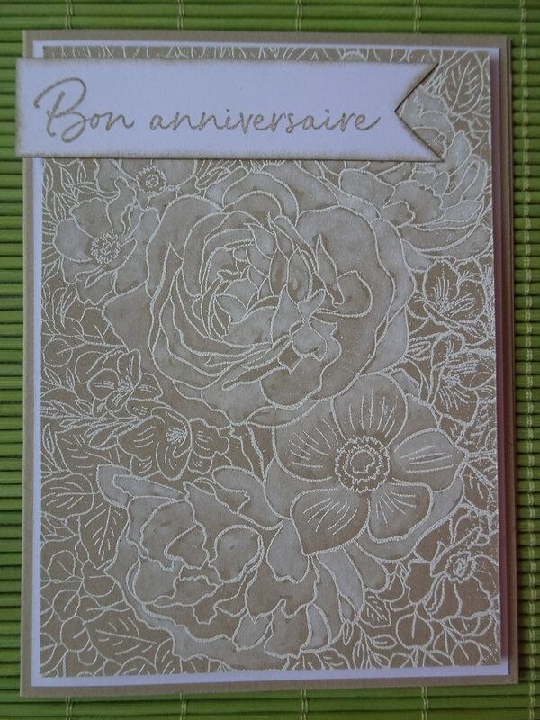 30i Carte Lavis blanc Breathtaking bouquet 2e création