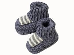 Jolis petits chaussons rayés
